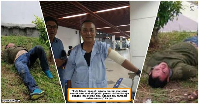 Koperal kena timbak ba lengan, dua perumpak mujur ditangkap di Taman Tunku