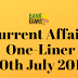 Current Affairs One-Liner: 30th July 2019