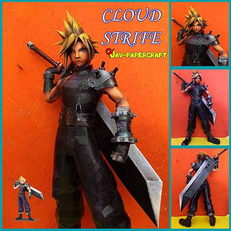 Paperized: Final Fantasy VII: Cloud Strife Paper Model