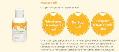 massage oil untuk bayi; urutan baby; minyak urut bayi; massage oil shaklee baby; shaklee kudat; shaklee bongawan