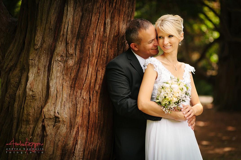 ritratto sposi matrimonio Parco di Arenzano