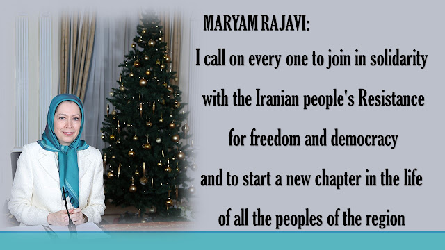 IRAN-MARYAM RAJAVI'S CHRISTMAS AND NEW YEAR'S GREETINGS