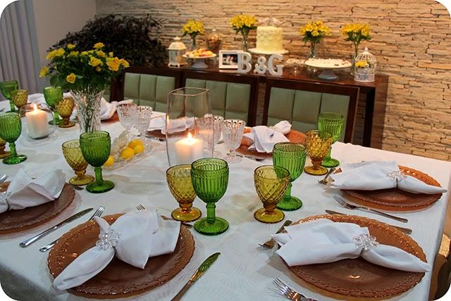 Decoração da Mesa do Jantar de Noivado