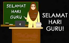 Selamat Hari Guru | Ilustrasi Guru Wanita Comel