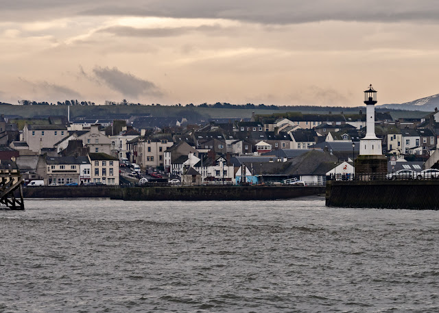 Photo of the entrance to Maryport basin from the Solway Firth