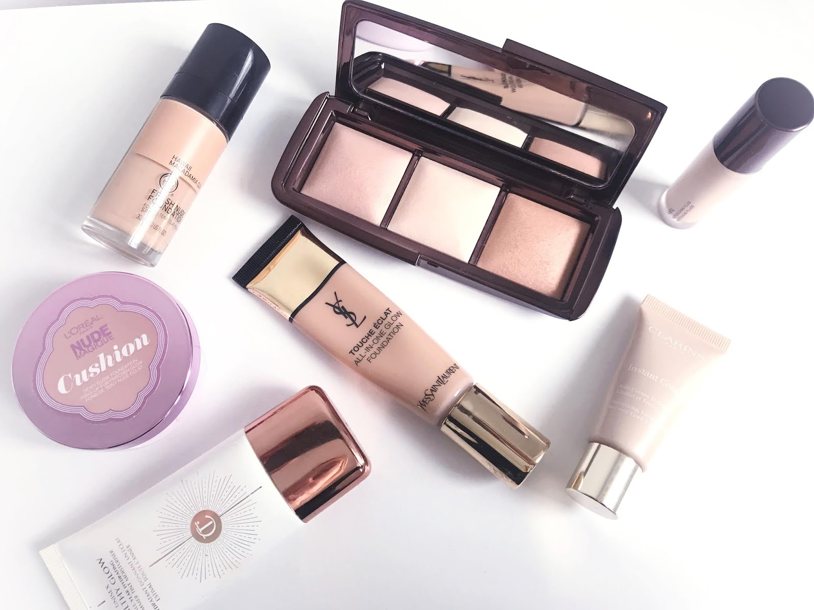 Foundations, concealers and powders