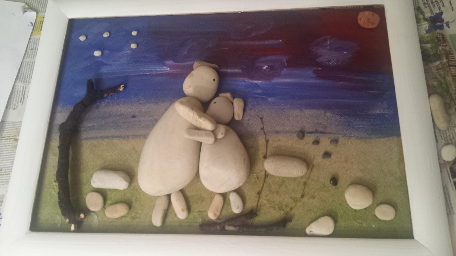D asyclase cuadros con palos y piedras del r o sella asturias espa a - Cuadros hechos con piedras ...
