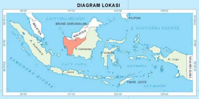 letak kalimantan barat dalam peta (west kalimantan located in a map)