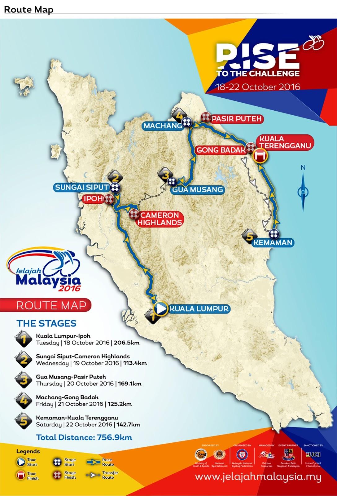 Peta Jelajah Malaysia 2016