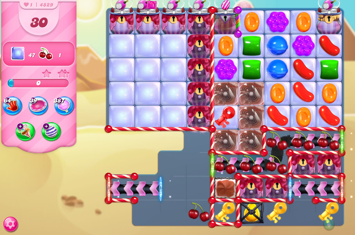 Candy Crush Saga level 4829