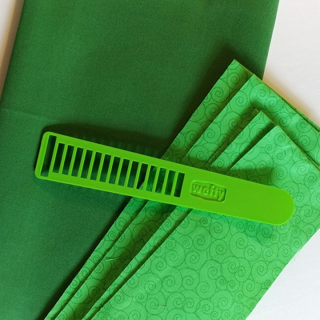 Open hexweave greenery quilt with Wefty needle