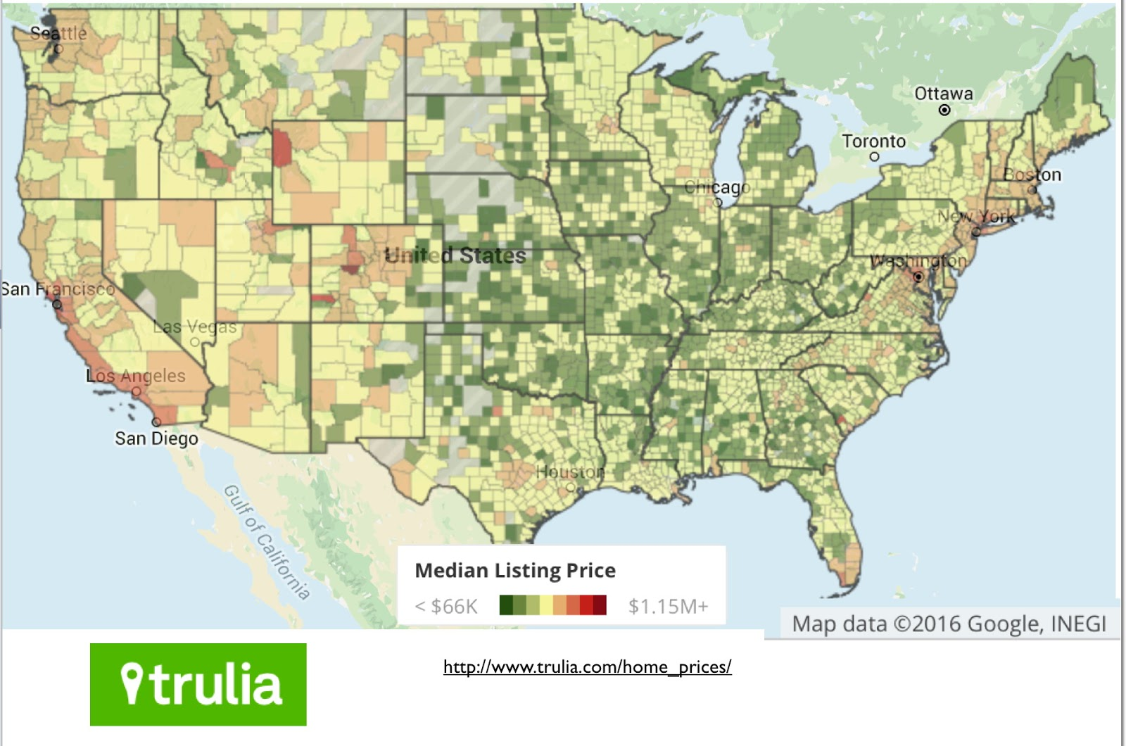 Mapping the extraordinary cost of homes in U.S.