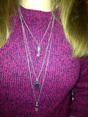 Triple Tier Silver Necklace