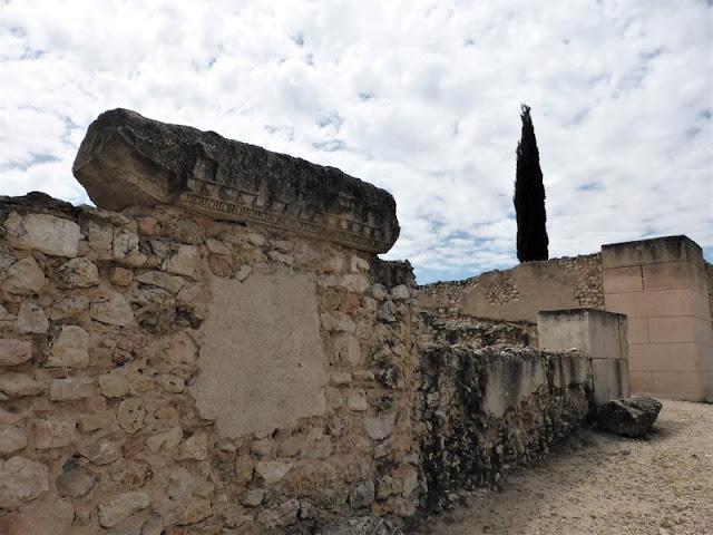 Sección de muro del Aula Basilical de Segóbriga