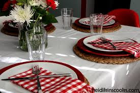 casual dinner table setting for fall or winter