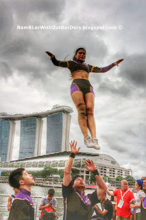 Wildcats cheerleaders, DBS Marina Regatta 2015, Singapore
