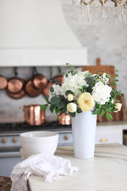 French Country Fridays- simple spring vignettes