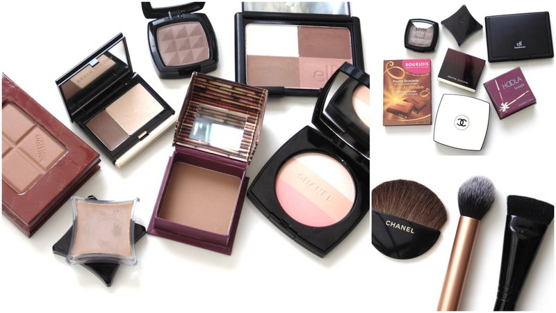 contouring products tools for pale skin of beauty and