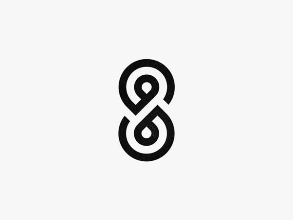 Inspirasi Desain Logo Monoline 2017 - S+8 Monoline Logo