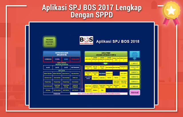 Aplikasi SPJ BOS 2017 Lengkap Dengan SPPD