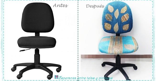 Esperanza entre telas y pinturas como forrar una silla y - Como forrar una silla de escritorio ...