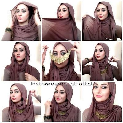 Tutorial Style Hijab Pashmina Jeweled Kalung