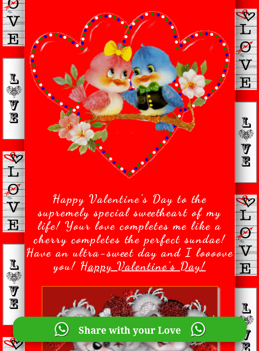 Happy Valentines Day Wishing Greeting