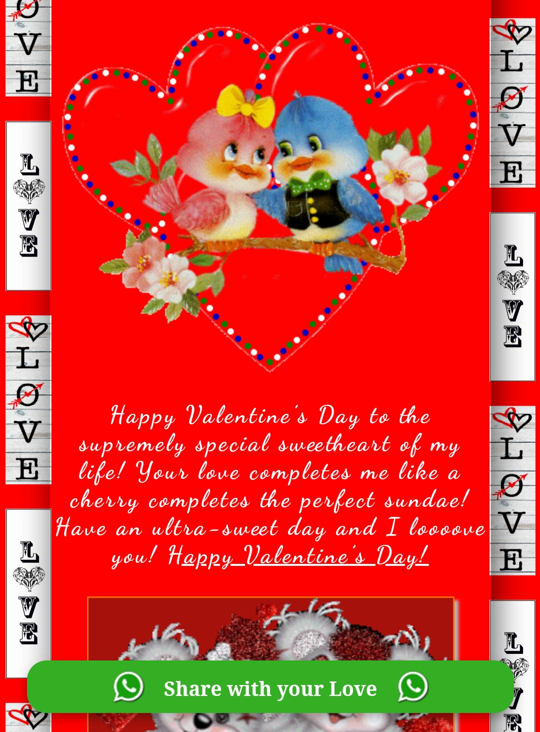 Happy Valentines Day Wishing Greeting