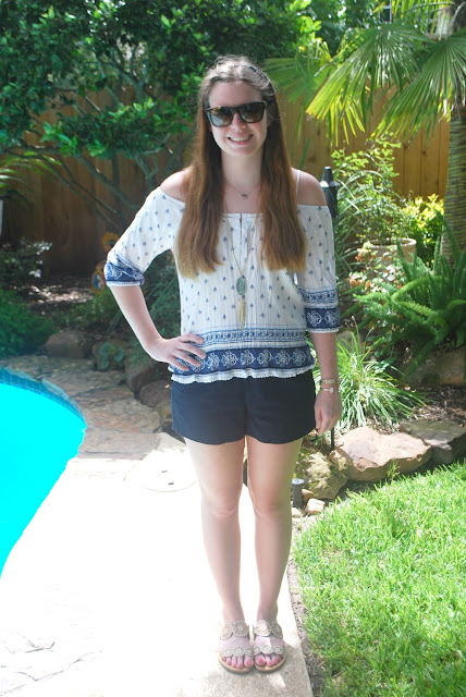 navy boho outfit