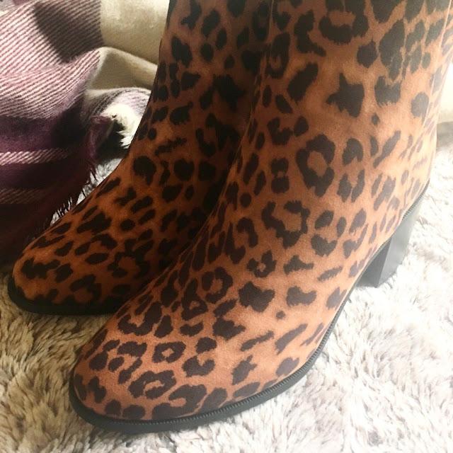 New Look leopard print boots