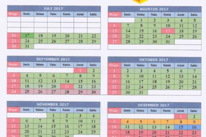 Kalender Pendidikan Tahun 2017-2018 Jawa Barat