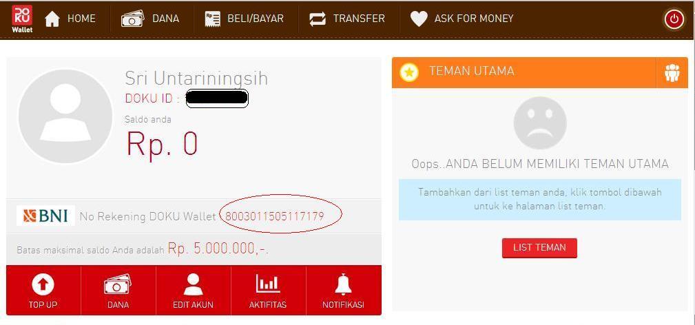 Cara Mendaftar Doku Wallet - Dunia Qtoy