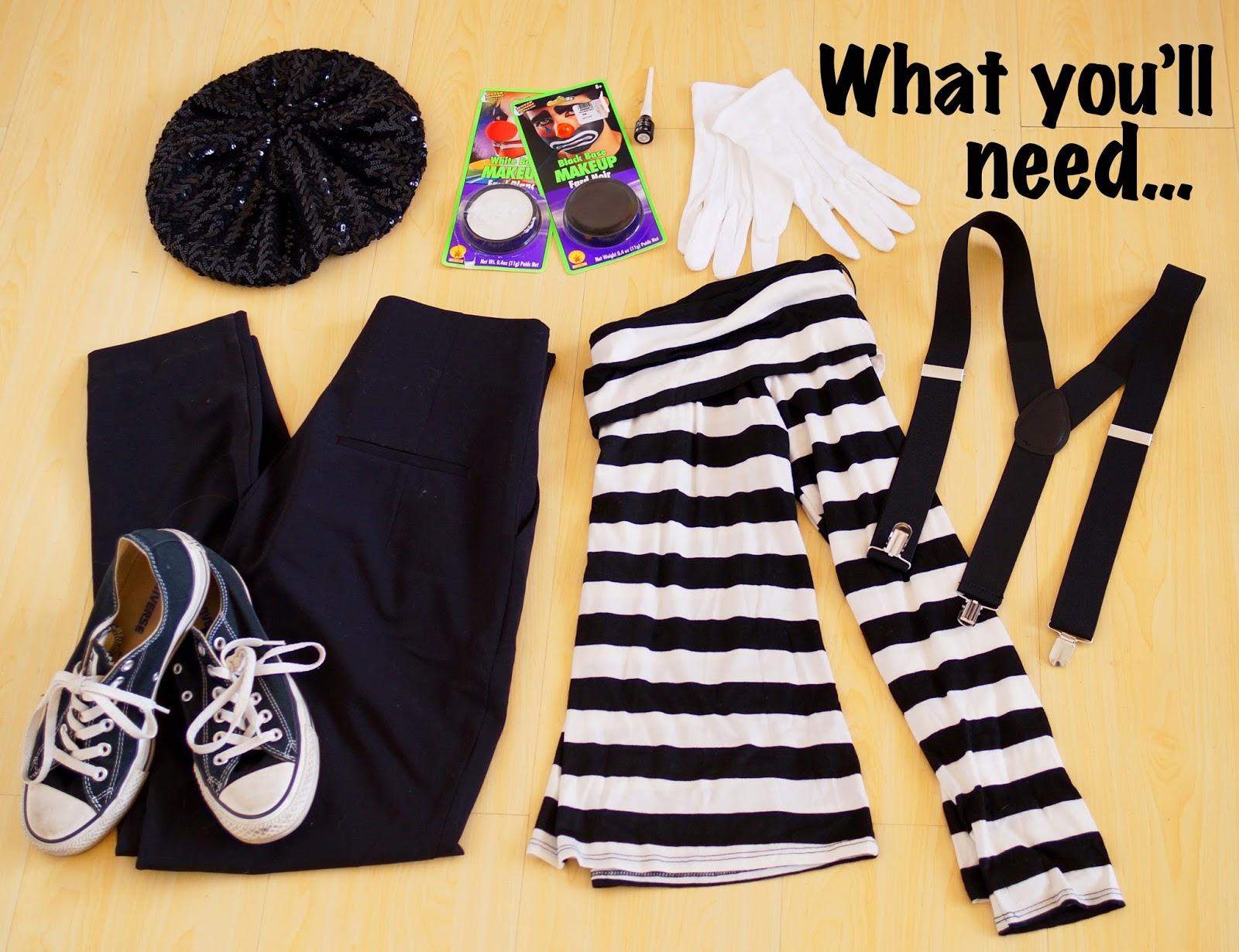 Homemade Costume Ideas & The Joy of Fashion: Halloween: Last Minute Homemade Mime Costume