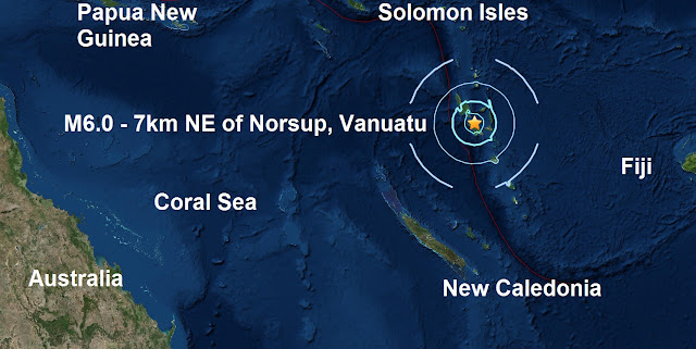 A mag 6.0 - 7km NE of Norsup, Vanuatu is the 99th major quake of 2016  Untitled