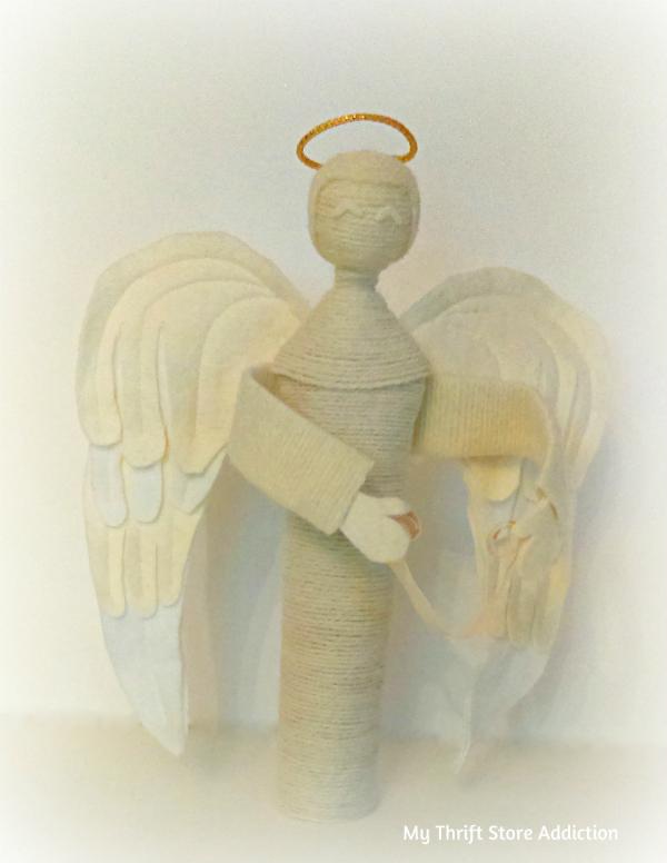 handmade yarn angel