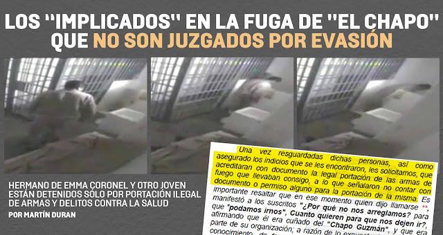 """Los """"implicados"""" en la fuga de El Chapo que no son juzgados por evasión"""
