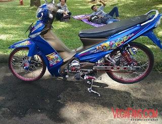 Foto Vega ZR Thailook Style Biru Keren