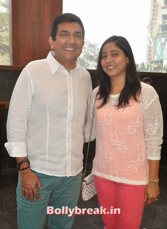 Sanjeev Kapoor with his wife Alyona