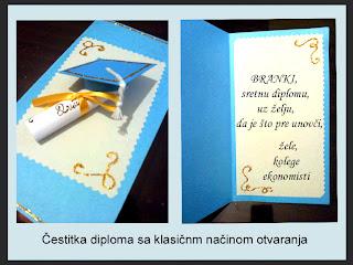 čestitke povodom diplome Ručna izrada ukrasnih kutija, čestitki, nakita: ČESTITKE čestitke povodom diplome