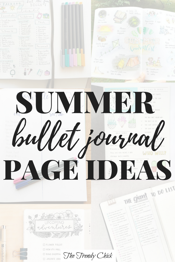 Summer Bullet Journal Page Ideas