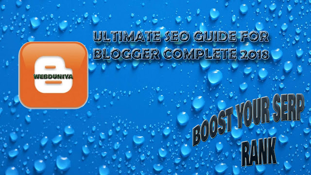 How To Setup Seo On Your Blog Full Guide 2018