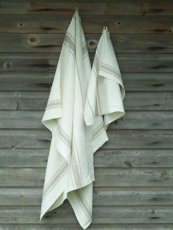 "Grey Striped Linen Bath Towels Set ""Tuscany"", 100% LINEN Colour: OFF WHITE/GREY Soft, prewashed Set includes 2 Bath Towels 65 x 130cm and 100 x 140cm and 2 Hand Towels 47 x 70cm  http://www.linenandlavender.net/p/blog-page_3.html"