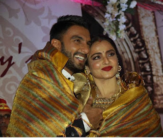 Rekha and Ranveer sing during Yash Chopra Award