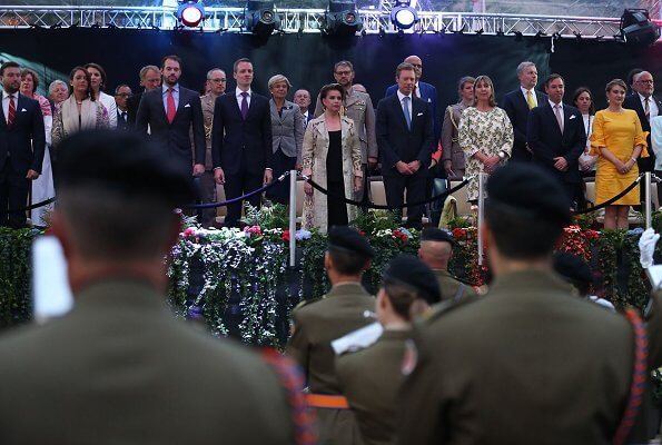 Hereditary Grand Duke Guillaume, Hereditary Grand Duchess Stephanie, Prince Felix, Prince Louis, Princess Alexandra
