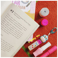 Owl, book page, revlon
