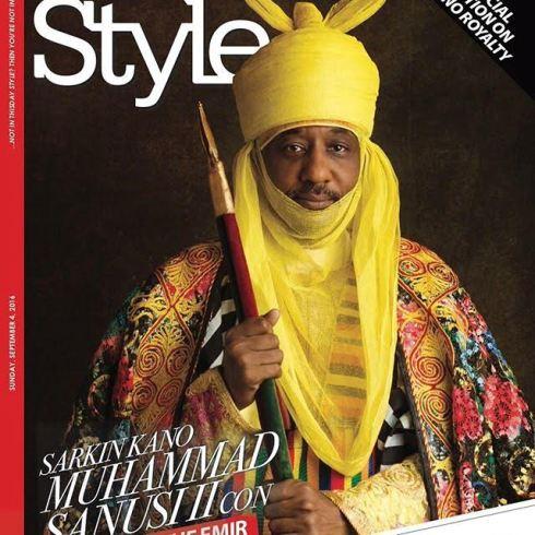 Celebration of Kano Royalty: Emir of Kano, Sanusi Lamido Sanusi on the cover of Thisday Style Magazine 1