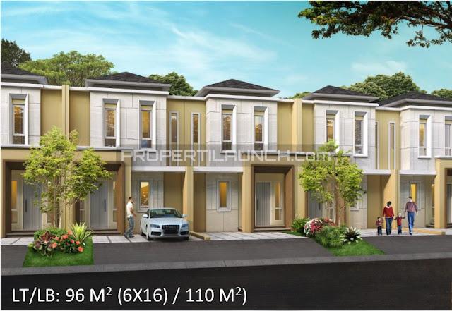 Tipe 6x16 Rumah Cluster Leora Alam Sutera