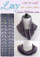 Crochet Lucy Chevron Cowl