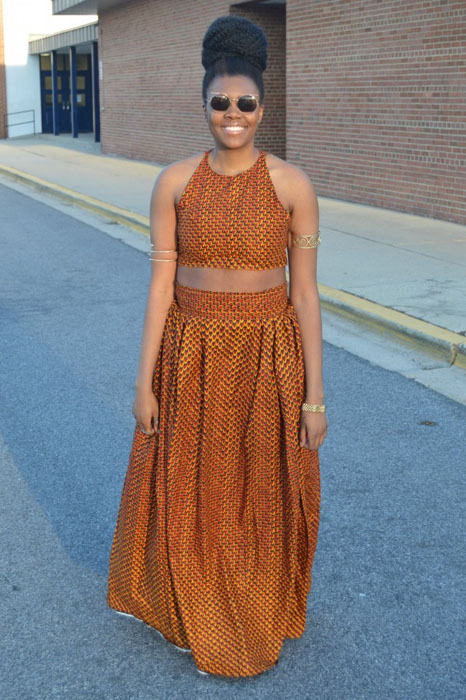 ankara crop top with maxi skirt (2)