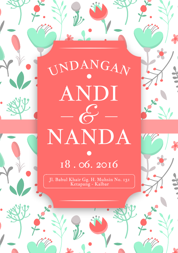 download template undangan vintage cdr
